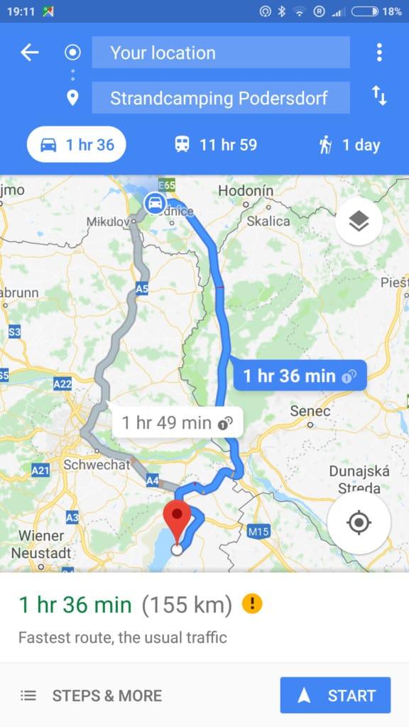 Nawigacja Google Maps