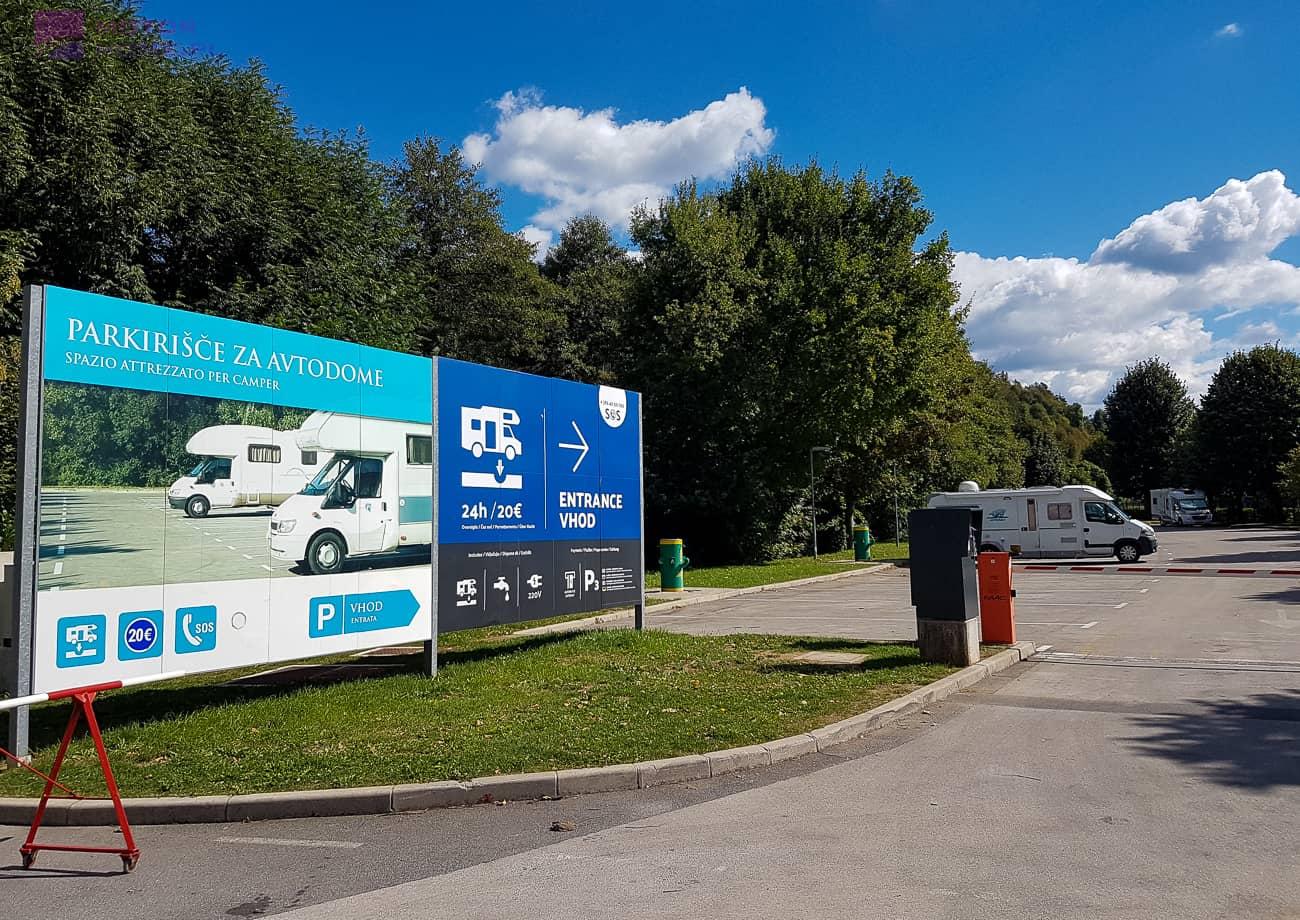 PARKING DLA KAMPERÓW. Postojna Słowenia