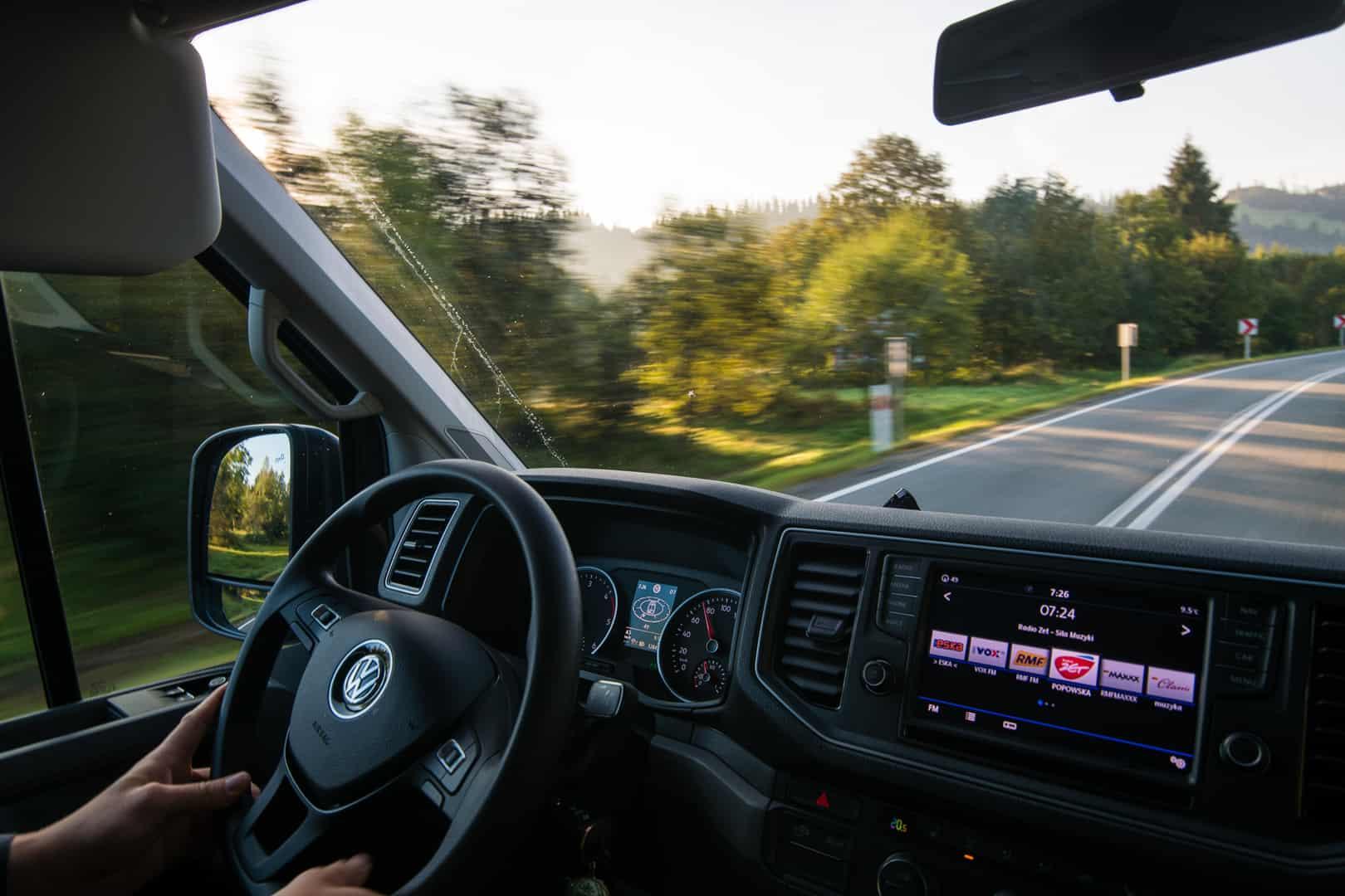 VW Crafter - za kierownicą